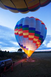 Ballon ride over the mara